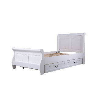Oxford white bed with trundle