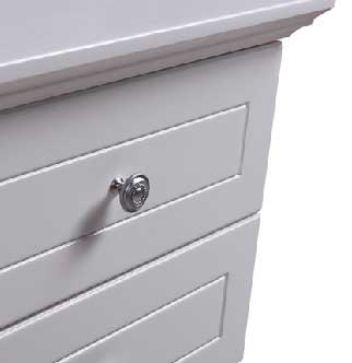 Paris Sleigh 3 Drawers Bedside Table