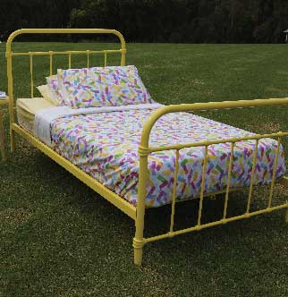 Popsicle Yellow Bed