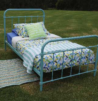 Popsicle Teal Bed
