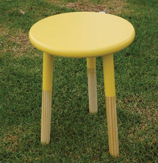 Popsicle Yellow Bedside Table