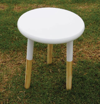 Popsicle White Bedside Table