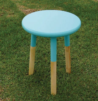 Popsicle Teal Bedside Table